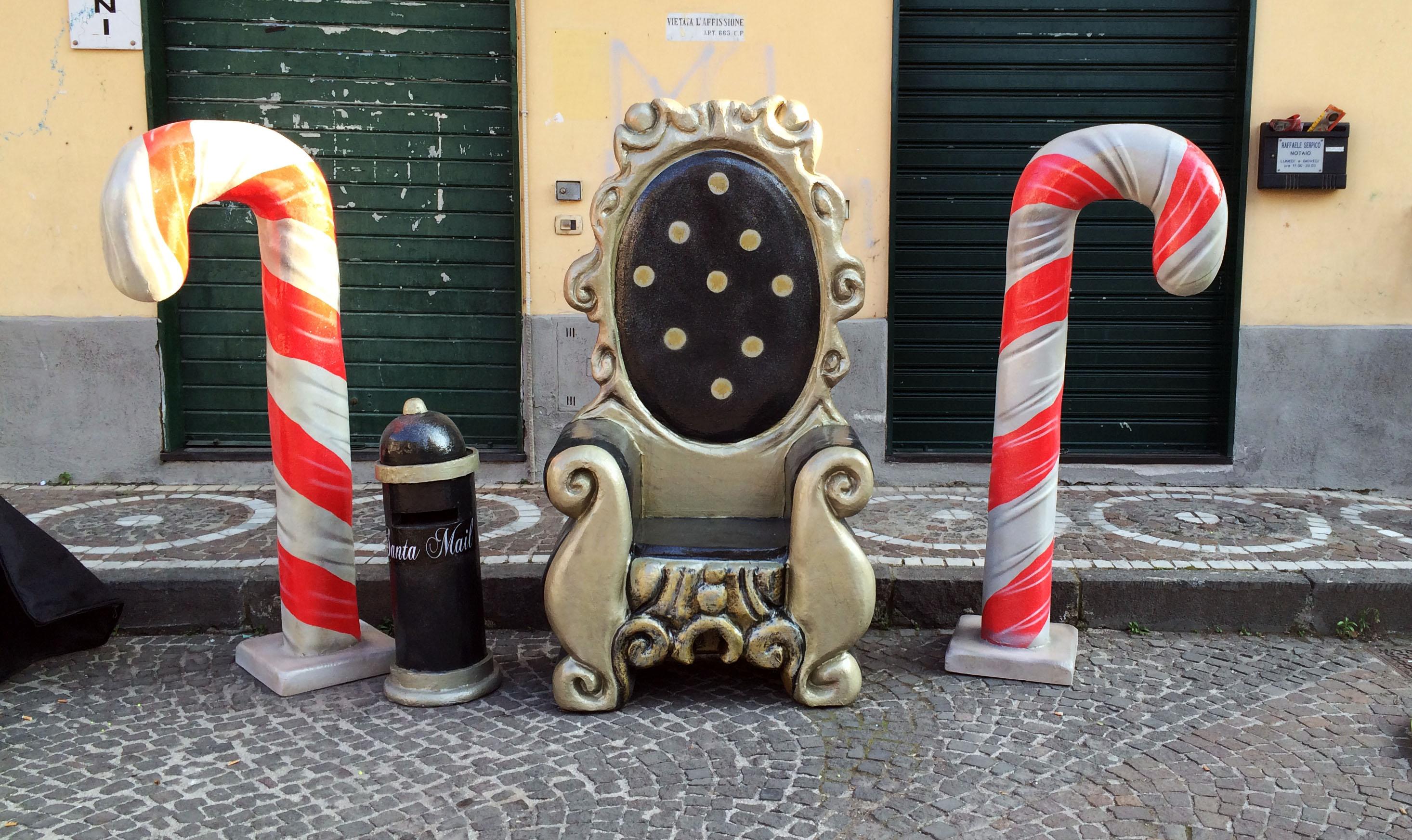 postazione trono nero