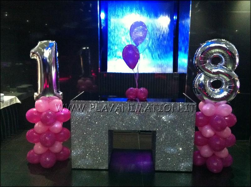 Decorazioni Sala Per 18 Anni : Addobbi festa anni perfect palloncini numero in foil viola