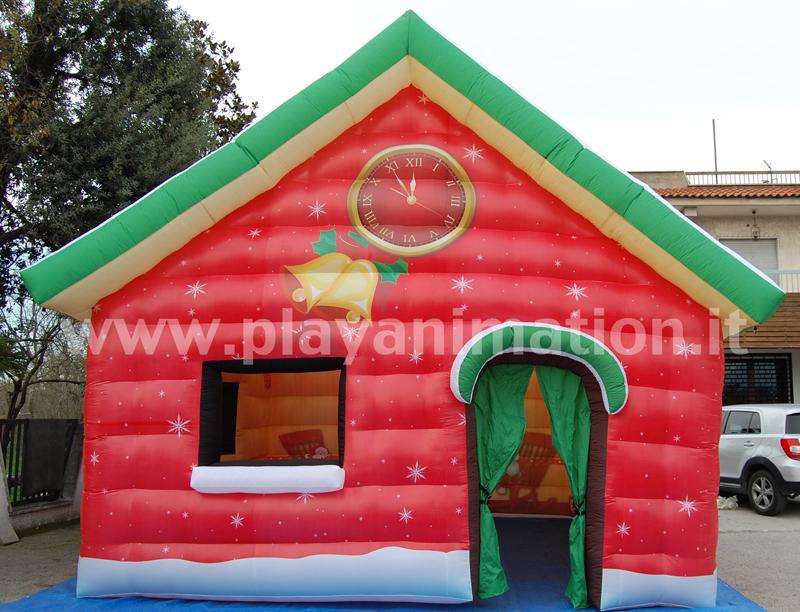 Casetta Di Natale Gonfiabile : Casa babbo natale animazione napoli play animation