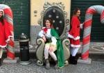 postazione con nataline ed elfi