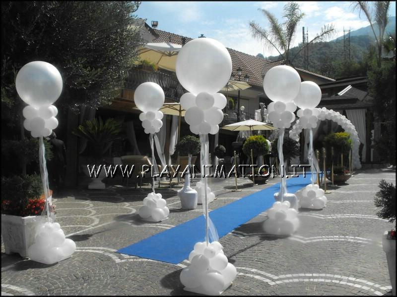 Lampioni con palloncini