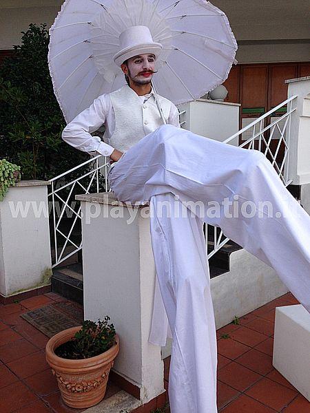 trampolieri con ombrello